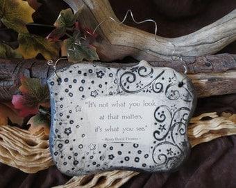Wonderful Henry David Thoreau Quote Ceramic Plaque