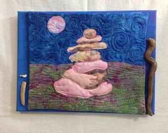 blue zen : fabric art
