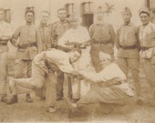 Marked Down 50% Russian Soldiers, circa WWII, Dancing. 1940s Vintage RPPC