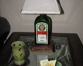 JAGERMEISTER Bottle Table Lamp with Harp & Finial