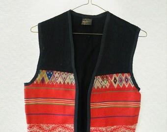 Vintage Peruvian Sheep's Wool Vest - Women's Small