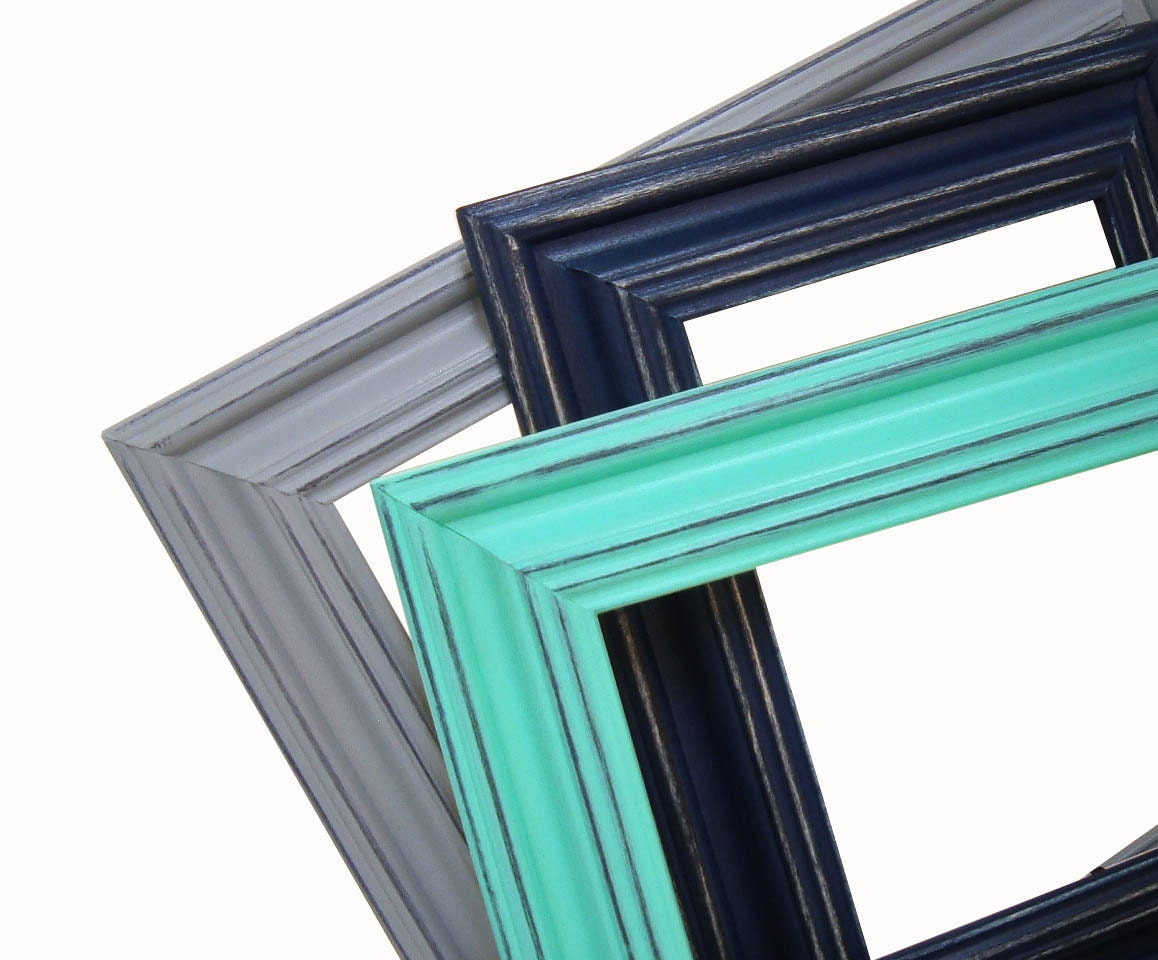 Picture Frame 8x10 Picture Frames Navy And Aqua Gray Or