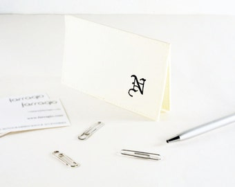 Embossed Monogrammed Business Card Holder, Vinyl Business Card Holder, BIZ99225