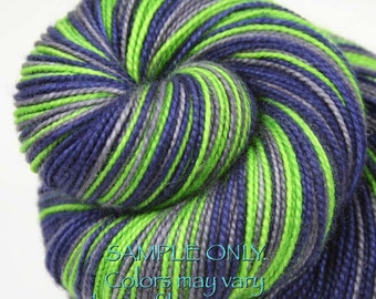 "DYED to ORDER: ""SEAHAWKS"" - Self-striping Sock Yarn"