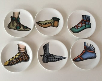 Pin Dish/ Coaster/Small Shoe Plates/ Made in Italy/ Coaster/ by Gatormom13