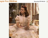 SALE Gone With The Wind Scarlett O'Hara Vivien Leigh Rare Hollywood 1989 Flounced White Dress Unused FF Bust 36 Women's Vintage Sewing Patte