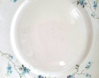 Haviland Blue Garland Floral China Set of Four Small Plates