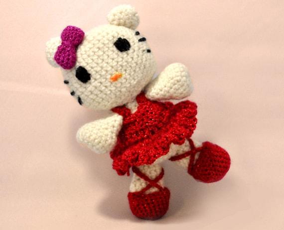 Crochet Toy Ballerina Hello Kitty Amigurumi