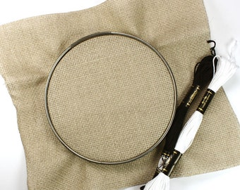 5 inch vintage metal embroidery hoop - great for cross stitch