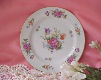 Vintage Sango China Dinner Plate Occupied Japan Roses Floradel