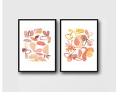 watercolor paintings, pink floral watercolor prints romantic Home decor Mothers day gift for her