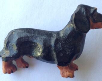 Vintage Dachshund Dog Brooch