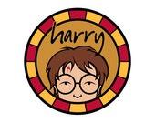 Individual Diecut Harry Vinyl Sticker