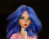 BJD- 6/7 Electric Blue Alpaca Wig MSD