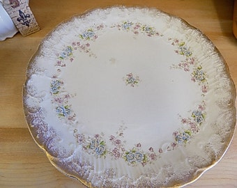 Antique Cake Serving Platter - Cottage Chic Serving - Home Decor