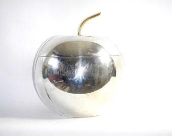 Rare 1920s Art Deco Apollo Studios 6800 Silver Plated Apple Ice Bucket