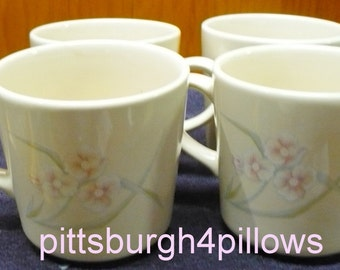 4 - Corelle - Spring Pond - Coffee Mugs / Cups - Euc - Price Is For All
