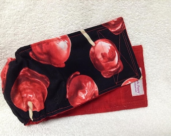 """Male Dog Belly Band Diaper Pet Wrap  Cotton Big Red Apple  Fabric Custom Sizes To 30"""""""