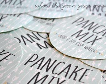 POW WOW Pancake Mix Sticker Labels