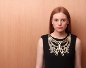 LAGRIMA leather necklace (gold) Made to order for Gail