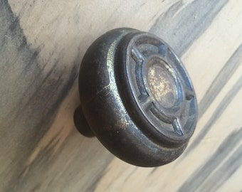 Old Brass Door Knob with Stormy Patina