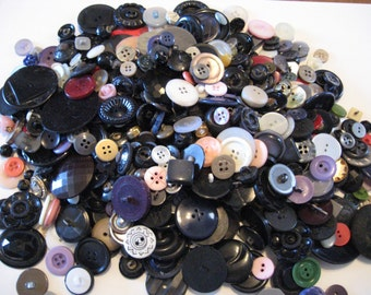 Vintage Sewing Crafting BUTTON Collection one and one-half pounds of buttons
