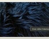 Navy Shaggy Mongolian Faux Fur Craft Size
