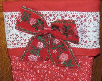 1984 Gallery Originals Calico Christmas Stocking