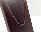 Simple Elegant Onxy Necklace || 14k Gold Filled Onyx Necklace || Onxy Gold Chain || Boho || Boho Necklace || Hand Crafted Necklace