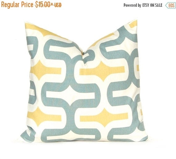 Sale pillows decorative throw pillow cover home decor blue and gold