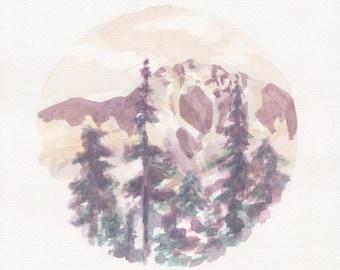 Maroon mountains of Washington