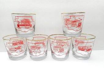 Vintage Transportation Glasses