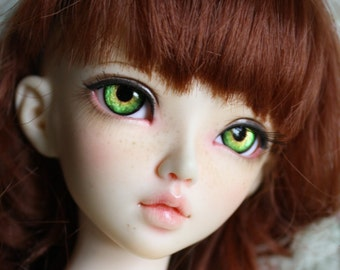 BJD eyes Doll eyes Hand made available in 12/14/16/18/20/22/24mm Glittering Cantaloupe made to order