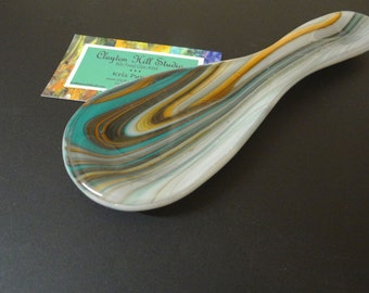 Fused Glass Spoon Rest - Southwest XIII