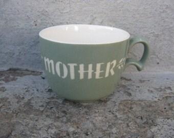 harkerware cameo mother mug sage green gift idea