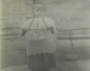 Old French Photograph - Cute Little Choirboy
