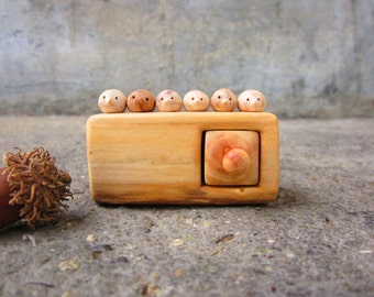 Made to order, Miniature chest of drawers with flock of birds, Wood carving,  Wood Sculpture, Wood box, Personalized Gifts, unique gift