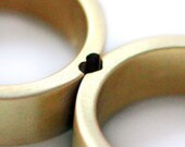 Jessie's special order:                  Heart Wedding 5mm wide, Band Set. Solid 18K yellow gold