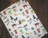 Dog Park Print Kitchen Towel
