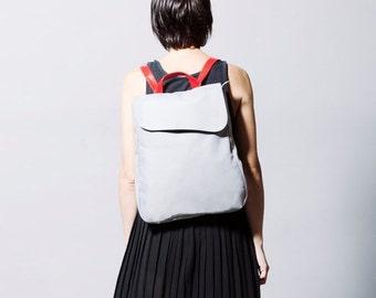 25% OFF, Vegan Backpack, rucksack, women backpack, Laptop backpack, travel backpack, gray backpack, office bag, backpack purse, everyday bac