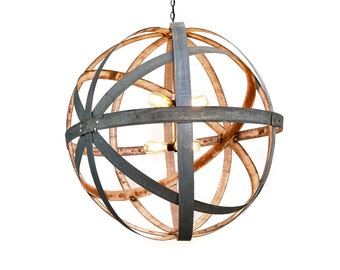 Barrel Ring Chandelier - ATOM - Colossus // pendant light // large scale lighting // modern style