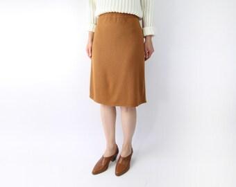 VINTAGE Sweater Skirt Soft Knit Short Butterscotch