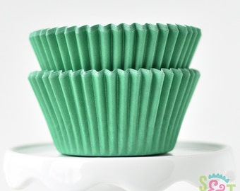 Solid Green BakeBright GREASEPROOF Baking Cups Cupcake Liners | ~30