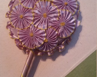 Vintage Wand Powder Puff Lavender with Flowers
