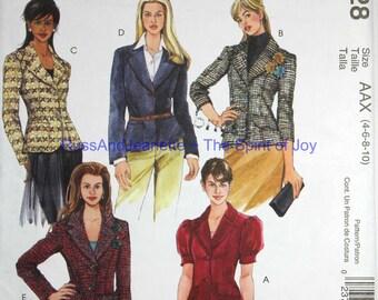 SIze  4 6 8 10 McCalls M4928 Jacket Blazer Fashion  Womens Misses Uncut Sew Sewing Pattern