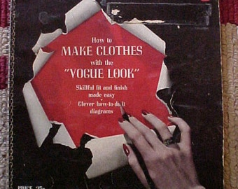 Vintage 1942 Vogue Sewing Book High Fashion Techniques