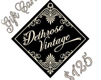 Dethrose Vintage Gift Card 125