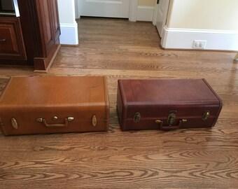 2 Vintage Suitcase Shelves