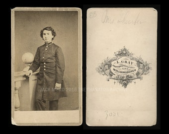 Civil War Soldier ~ Name on Back is MRS Thurber ~ Woman or Spy?