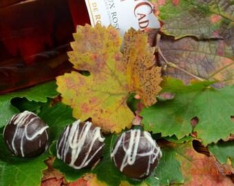 Chocolate Wine Truffles, Rosé, Wine Truffles, Dark Chocolate Truffles, Wine Chocolate, Chocolate Wine, Gifts for Him, Hostess Gift